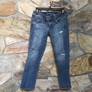 American Eagle Artist  blue stretchy jeans